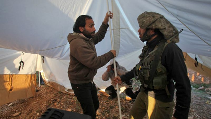 Tent camps have been set up in a bid to draw attention to illegal Israeli settlement construction in E1 area [AFP]
