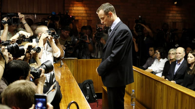 The South African is accused of murdering his girlfriend, Reeva Steenkamp, in February [Reuters]