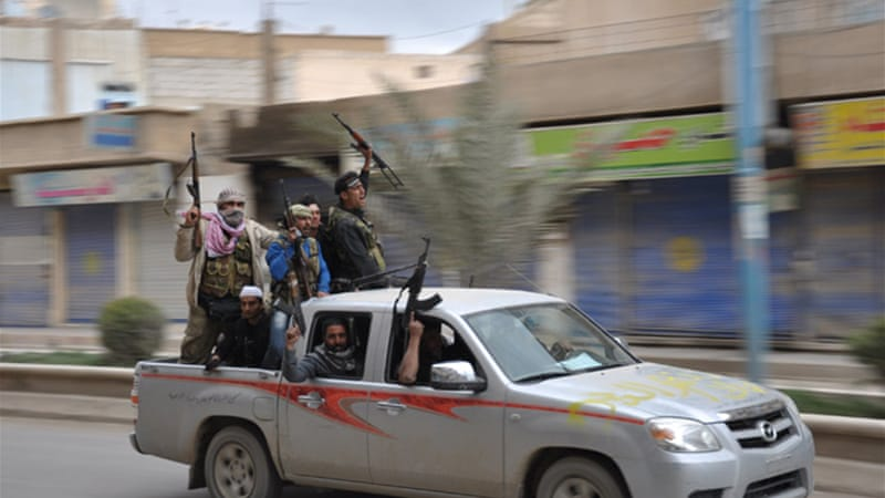 The Free Syrian Army said they are lacking in heavy weaponry to fight against Syrian government forces [Reuters]