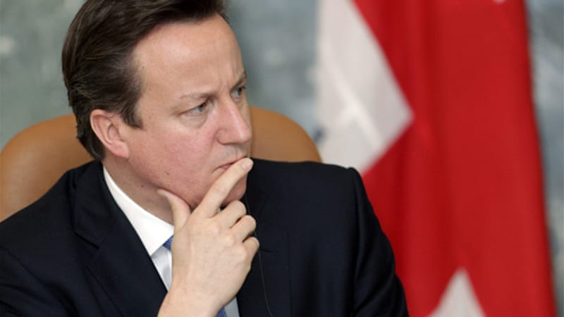 Cameron said that the UK was 'rolling up the red carpet ... and showing [illegal migrants] the door' [Reuters]