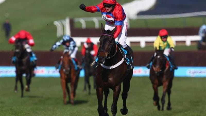 Barry Geraghty rides Sprinter Sacre to Queen Mother Champion Chase win during Ladies Day at Cheltenham [GETTY]