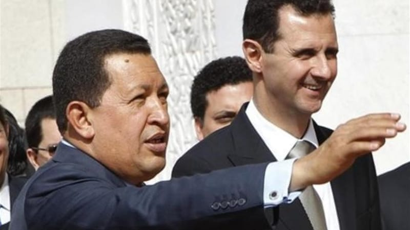 """Under Hugo Chavez, poverty levels and wealth inequality in Venezuela have decreased dramatically - under Assad, the opposite has happened,"" writes author [AP]"