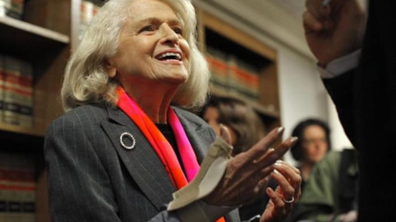 "Edith Windsor's case directly challenges Defense of marriage Act, arguing that the federal government cannot deny benefits to couples who are legally married ""if the US Constitution promises equal protection under the law"" [Reuters]"