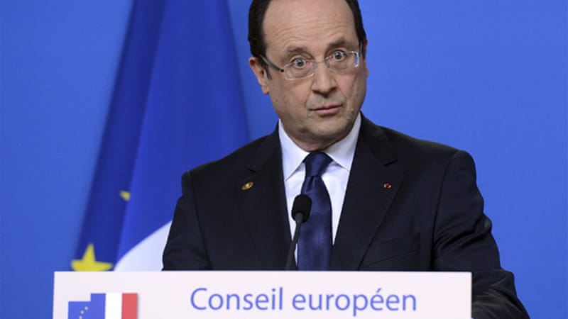 Hollande says France is ready to 'take its responsibilities' if other EU states are unwilling to lift embargo [Reuters]