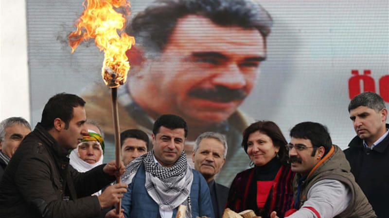 Ocalan has been in jail for 14 years after being found guilty of treason and sentenced to life in prison [AFP]