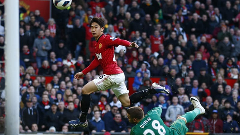 Kagawa put United ahead on the stroke of half time and then scored twice after the break to leave United in pole position chasing a 20th English title [Reuters]