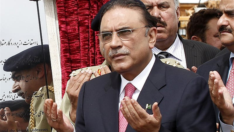 Zardari said that a caretaker government would be set up to handle preparations for the vote [EPA]