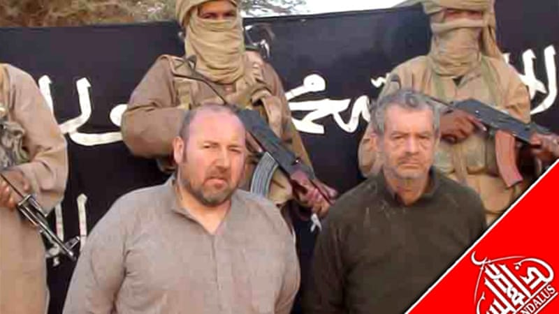 Verdon, right, was kidnapped from a hotel while on business in northeastern Mali [AFP]