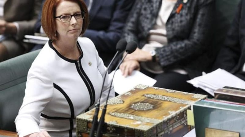 Pressure on Gillard came after rivals called for a ballot to resolve months of slipping polls [Getty Images]