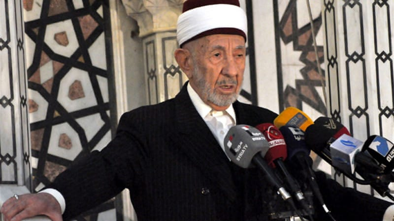 Mohamed Saeed al-Bouti, believed to be in his 90s, was a staunch supporter of President Bashar al-Assad [Reuters]