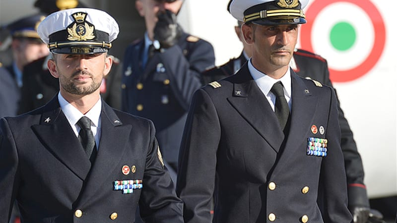 India hailed Italy's decision to return two marines facing murder charges in New Delhi as a success for diplomacy [AFP]