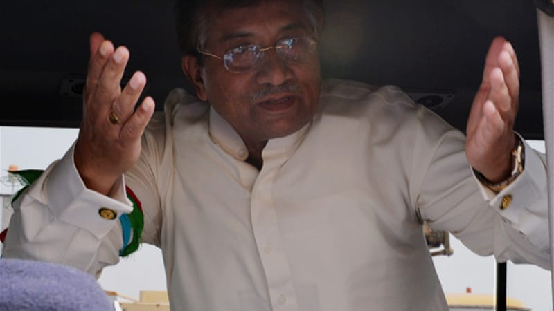 Musharraf returned to Pakistan last month after four years in exile to run for parliament in general elections [AFP]