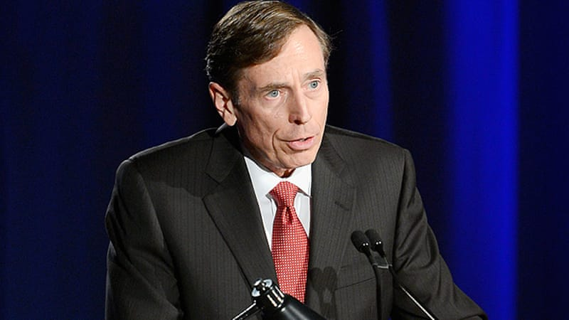 Former CIA director General David Petraeus makes his first public speech since resigning [Getty Images]