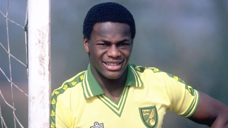 Only two other footballers have previously publicly said they were gay – including former England Under-21 international Justin Fashanu, pictured above, who committed suicide in 1998 aged 37 [GALLO/GETTY]