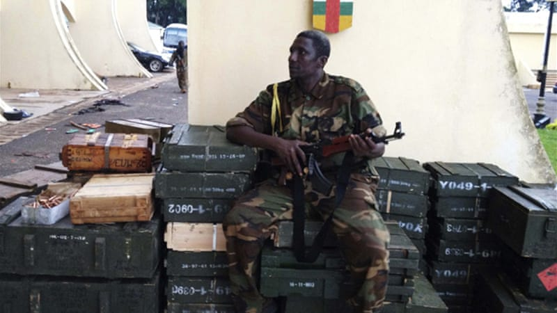 Fighters from the Seleka rebel coalition overran the army and ousted the president in a coup last week [Reuters]
