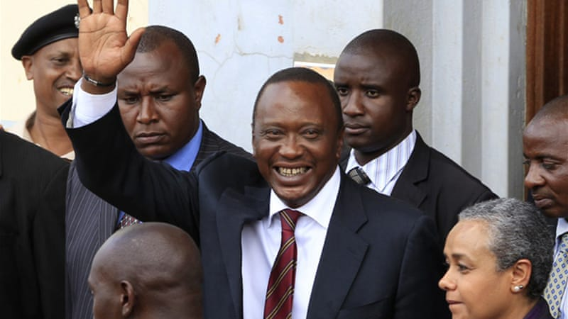 President-elect Kenyatta faces charges of crimes against humanity at the International Criminal Court  [Reuters]