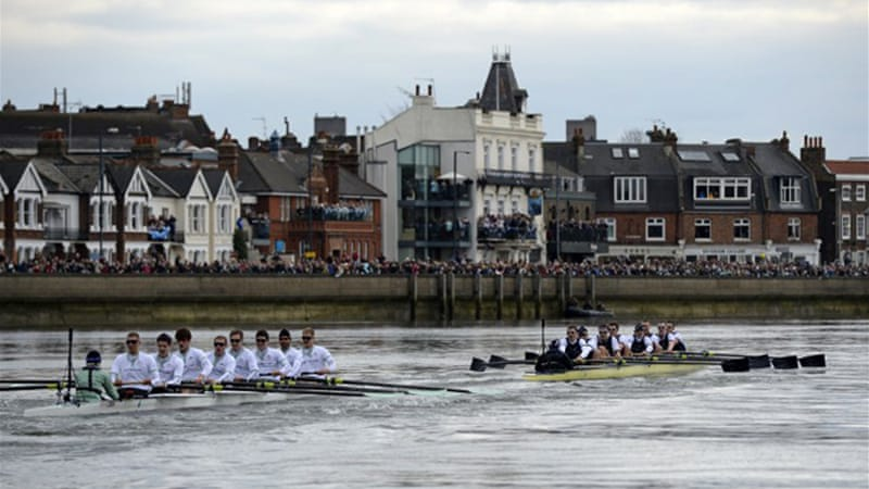 Oxford surged past Cambridge by almost two lengths on the River Thames in front of an estimated 250,000 spectators [AFP]