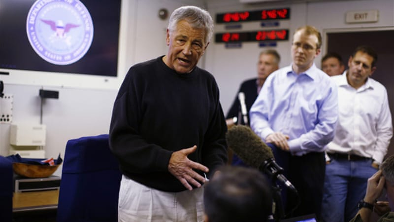 Chuck Hagel's trip would be the first to Afghanistan since 2008 visit with then-senator Barack Obama [Reuters]