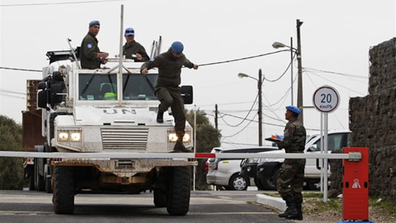 Peacekeepers have been deployed in the Golan Heights since 1974 to monitor the Israeli-Syrian ceasefire line [Reuters]