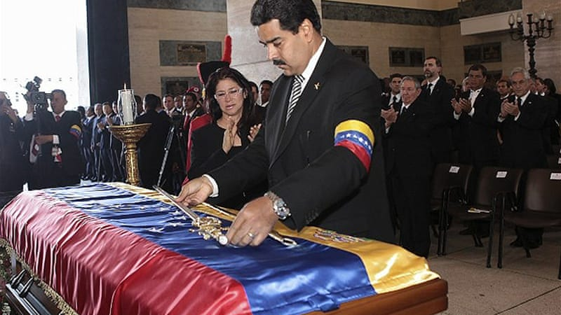 Maduro has pledged to continue the legacy of Chavez, who named him as his preferred successor [AFP]