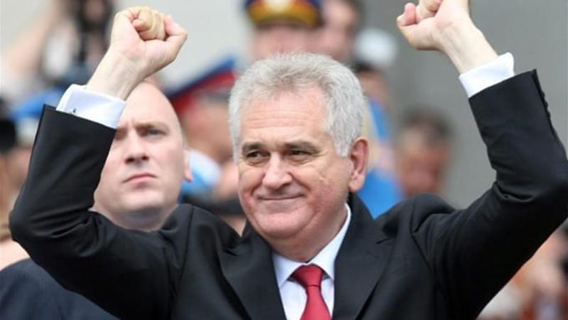 """Many leading Serb politicians, including the current Serbia President, Tomislav Nikolic, are well known for their refusal to acknowledge that genocide was indeed committed by Bosnian Serbs in Srebrenica,"" writes Tolbert [EPA]"