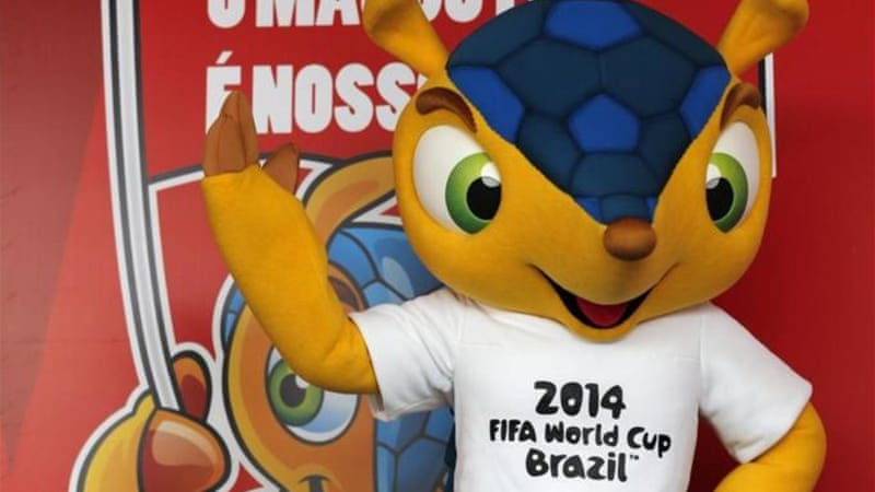 Automatic qualifiers Brazil and their endangered armadillo host the 2014 World Cup [Reuters]