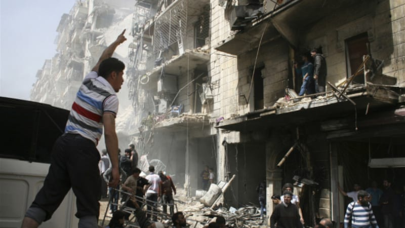 "Rights groups have criticised Syrian government forces for ""indiscriminate"" airstrikes on civilian areas [Reuters]"