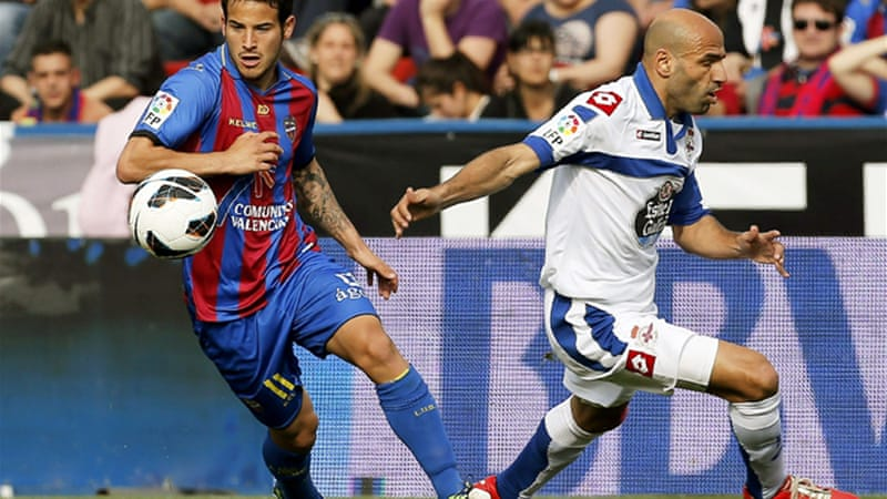Elsewhere Deportivo La Coruna rolled to a 4-0 victory at Levante to move out of the relegation zone for the first time in 18 weeks [EPA]