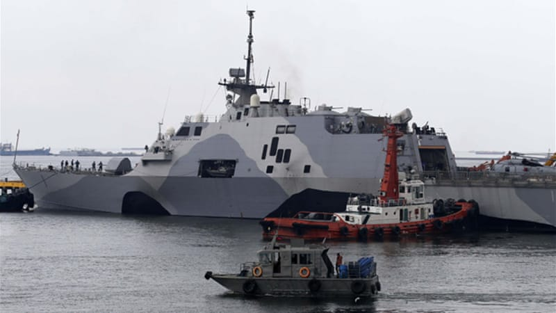 China has criticised US deployment of ships and its increasing cooperation with Asian treaty partners [EPA]