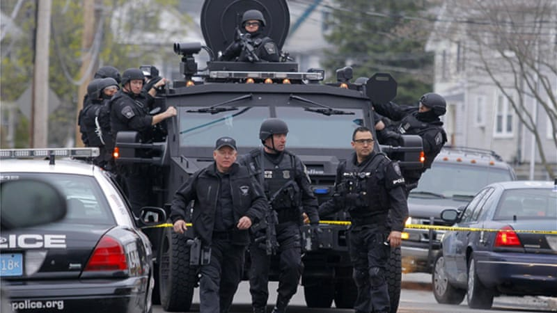 Police deployed militarised technology during the April manhunt for the Boston bombers [Reuters]