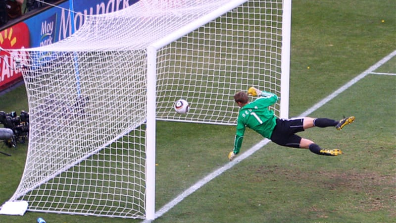 FIFA head Sepp Blatter backed the use of goal-line technology at the 2014 World Cup after England midfielder Frank Lampard had a clear goal disallowed against Germany in the 2010 edition [GALLO/GETTY]