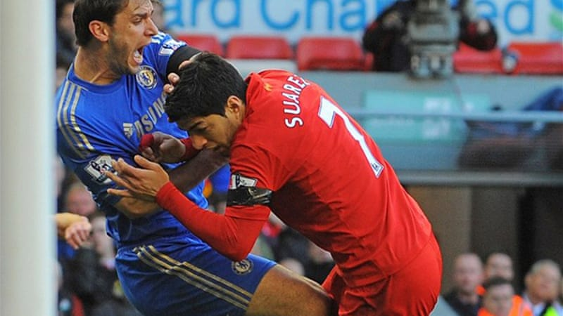 Suarez was suspended for 10 games after biting Chelsea defender Branislav Ivanovic in April [AFP]