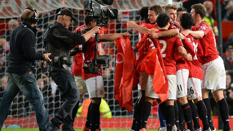 A dominant display by United at Old Trafford gave them the English title with four games to spare [AFP]