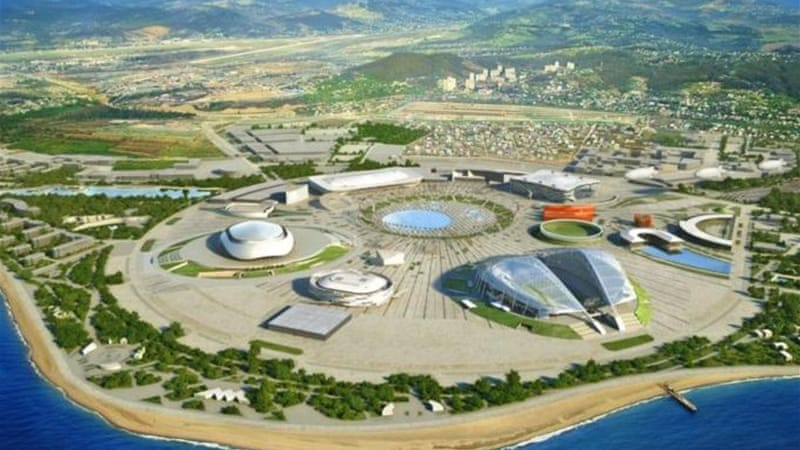 The Coast Zone for the Sochi 2014 Winter Olympics - which will be the world's most expensive games [GETTY]