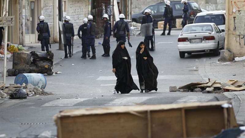 "Bahrain refers to protesters who clash frequently with police forces in Shia villages as ""terrorists""  [Reuters]"