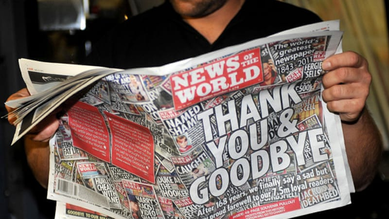 The News of the World newspaper was forced to close in light of the hacking scandal [AP]