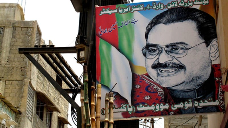 Hussain, resident in the UK for more than two decades, commands huge support in Karachi [Al Jazeera]
