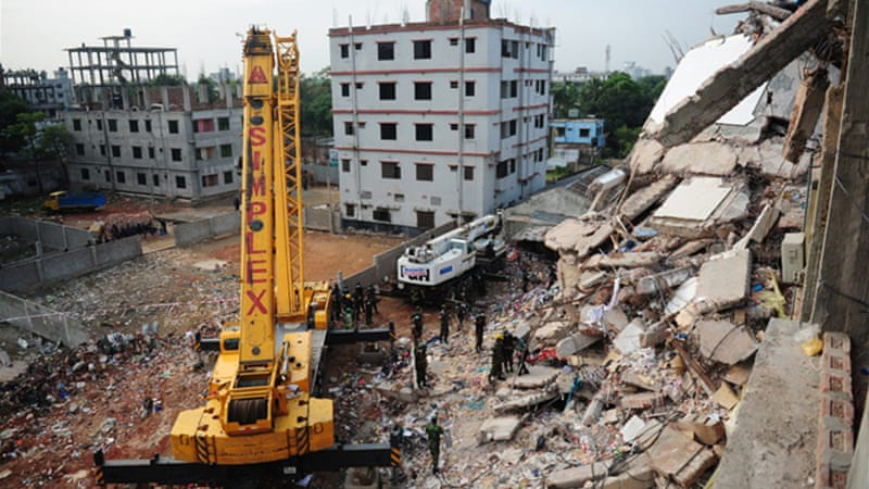 As rescue search continues, at least 362 people were confirmed dead after a garment factory collapsed last week [AFP]