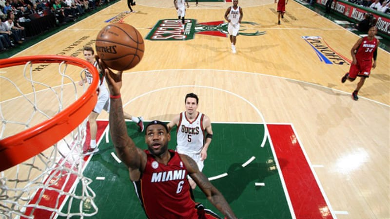 LeBron James had 30 points, eight rebounds and seven assists as visiting Miami Heat pulled away in the fourth quarter to complete a four-game series sweep over Milwaukee [AFP]