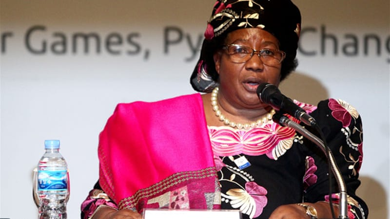 Joyce Banda's presidential succession was contested by Peter Mutharika who called for a military takeover  [File: EPA]