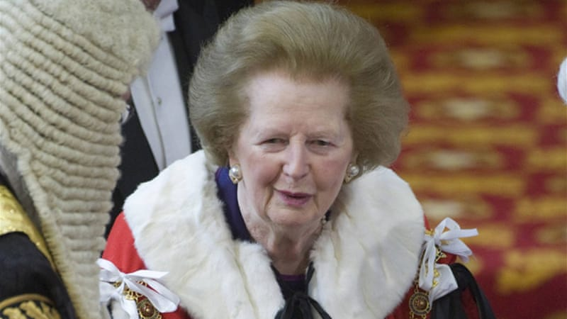Margaret Thatcher's embracement of certain policies provided only short-term fixes in the Middle East [Reuters]
