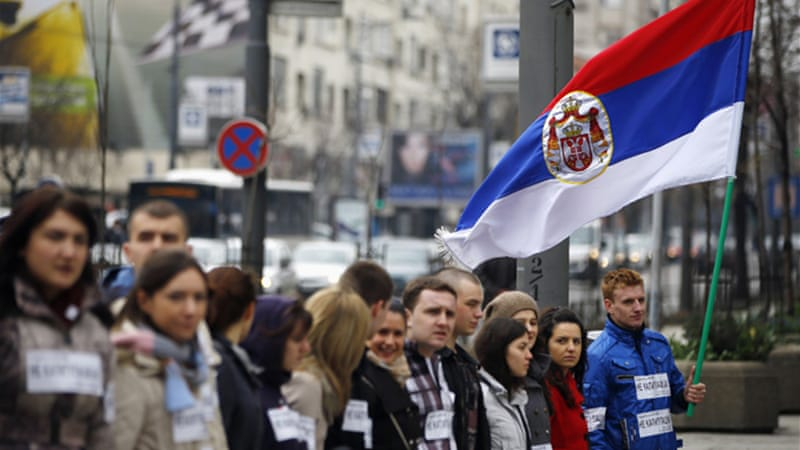 Serbia rejected an EU-brokered plan for Kosovo as Pristina failed to give broad autonomy to minority Serbs [Reuters]