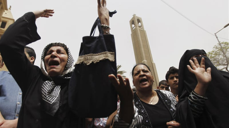 Copts, who make up 10 percent of Egypt's 84 million people, have decried violence by hardline Muslims [Al Jazeera]