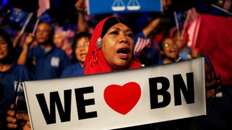 Barisan Nasional has been in power for 56 years in Malaysia, longer than any other coalition in the world [AFP]