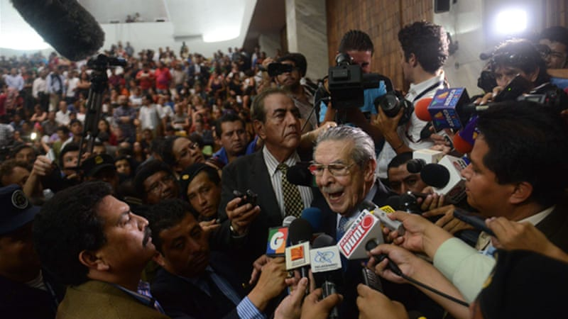 Efrain Rios Montt was indicted for massacres that resulted in the killing of over 1,700 people in the early 1980s [AFP]
