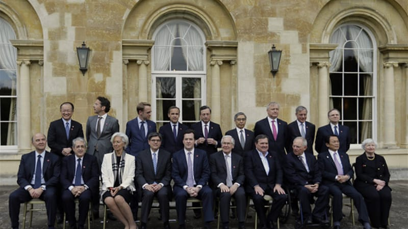 Finance ministers and central bank governors met for two days in Aylesbury, outside London [Reuters]