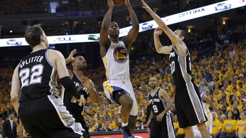 Barnes scored 26 points and collected 10 rebounds as the Warriors outscored San Antonio 13-3 in overtime [Reuters]