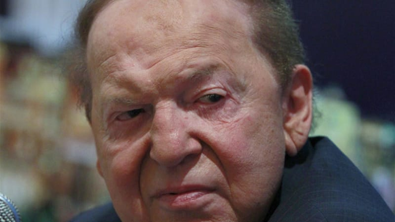 Adelson had attended court last week for closing arguments but was absent from Tuesday's ruling [EPA]