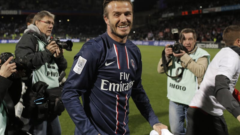The 38-year-old Beckham recently won a league title in a fourth country with Paris Saint-Germain [AP]
