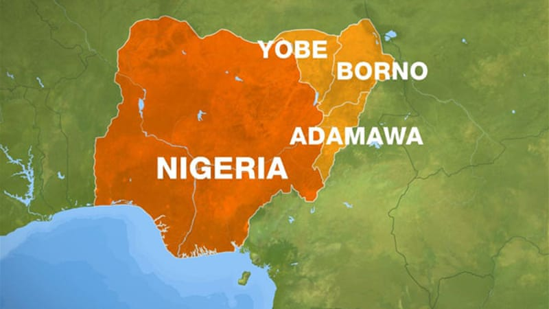 The map shows three states where military has been running operations against suspected Boko Haram men [Al Jazeera]